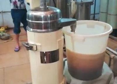 云南某公司售后普洱茶分离(管式离心机)实验视频