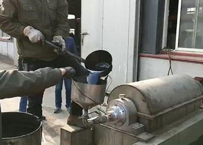 卧螺离心机费油分离实验现场视频